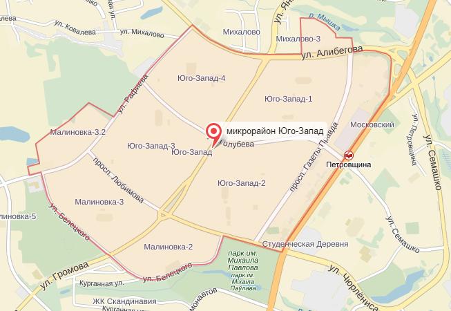 Вернадского карта района москвы