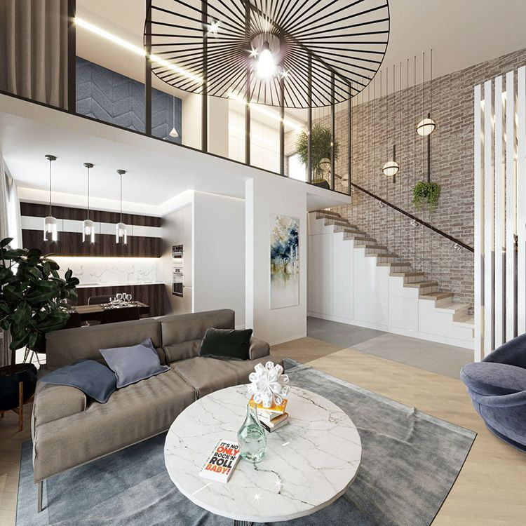 Вариант планировки квартиры с мансардой в Новой Боровой