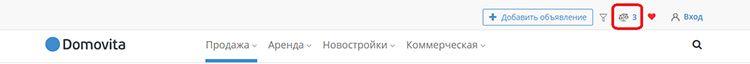 Сравнение объектов на Domovita.by